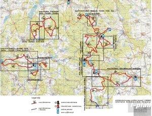 mapa běžeckých tras v České Kanadě